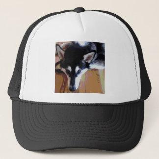 Cute Alaskan Malamute Face Trucker Hat