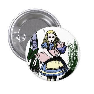Cute Alice in Wonderland Baby Pig Button