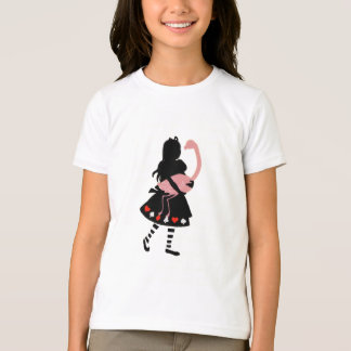 Cute Alice & Pink Flamingo T-Shirt