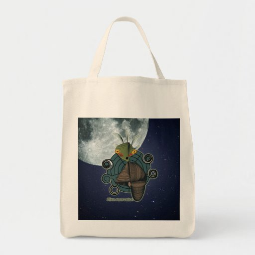 Cute Alien Reservation Style 1 Canvas Bags