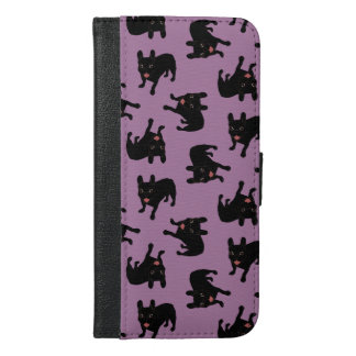 Cute all black brindle French Bulldog puppy iPhone 6/6s Plus Wallet Case