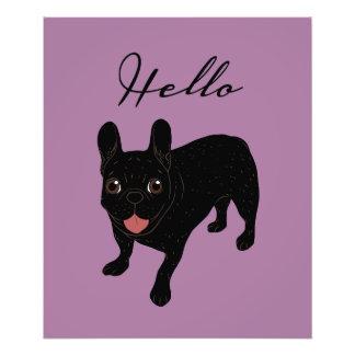 Cute all black brindle French Bulldog puppy Photo Print
