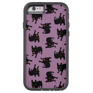 Cute all black brindle French Bulldog puppy Tough Xtreme iPhone 6 Case