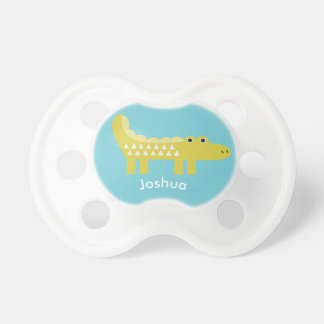 Cute Alligator Personalized Baby Pacifier