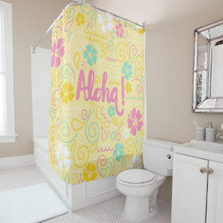 Cute aloha hawaiian colorful Shower Curtain