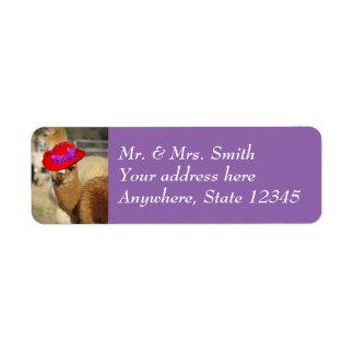 Cute Alpaca Return Address Labels