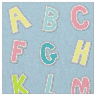 Cute Alphabet Themed Nursery Print Fabric