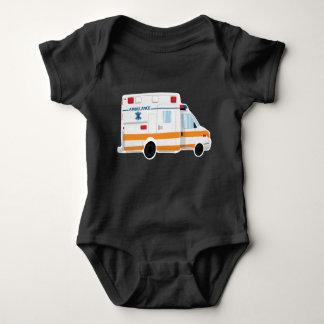 Cute Ambulance Baby Bodysuit