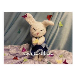 Cute Amigurumi Bunny Rabbit Postcard