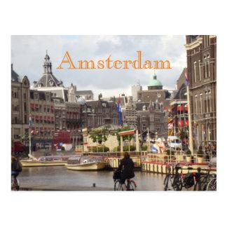 Cute Amsterdam Bike Ride Postcard