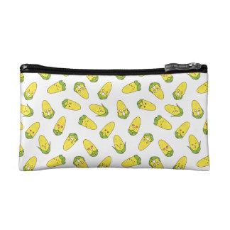 Cute Amusing Corn Expressions Pattern Cosmetic Bag