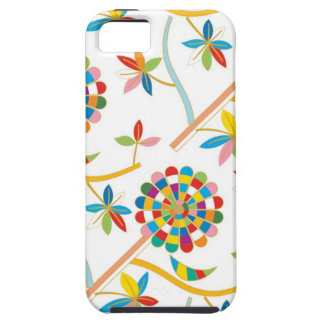 Cute and Artsy Colorful Leaf Abstract Texture Tough iPhone 5 Case