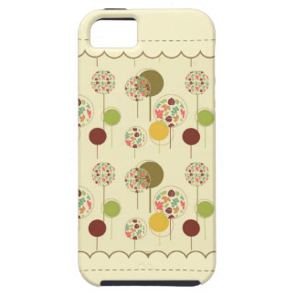 Cute and Artsy Maple Leaf Circle Pattern iPhone 5 Covers
