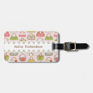 Cute and Colorful Bags Illustration Pattern Luggage Tag