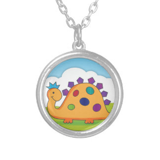 Cute and colorful cartoon spotted dinosaur jewelry