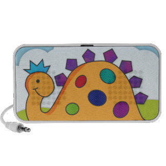 Cute and colorful cartoon spotted dinosaur speaker