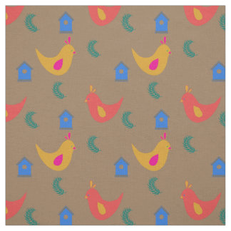 Cute and Colorful Chickens Fabric