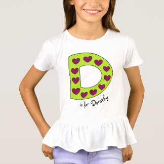 Cute and Colorful Letter D Personalized Girls Name T-Shirt