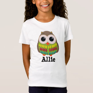 Cute and Colorful Owl Child's T Shirt