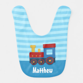 Cute and Colorful Train for Baby Boy Bib