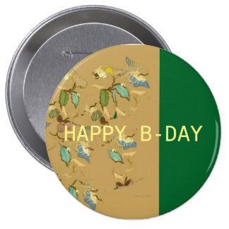 cute and colourful birthday button