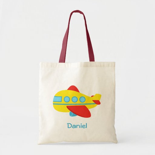 Cute and Colourful Passenger Aeroplane Tote Bags