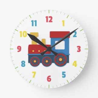Cute and Colourful Train for Boys Bedroom Wall Clock