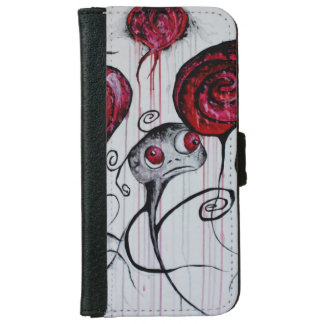 Cute and Creepy Creature Art iPhone 6 Wallet Case