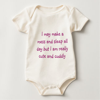 Cute and cuddly baby bodysuit