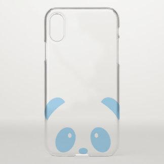 Cute and Cuddly Blue Panda iPhone X Deflector Case