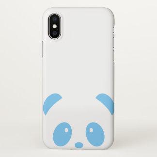 Cute and Cuddly Blue Panda iPhone X Phone Case