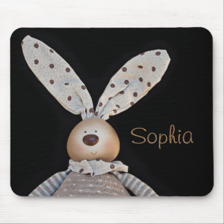 Cute and cuddly bunny mouse pad