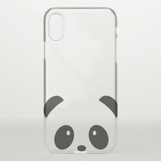 Cute and Cuddly Panda iPhone X Deflector Case