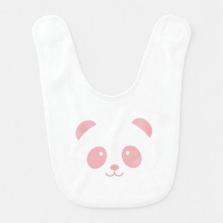 Cute and Cuddly Pink Panda Baby Bib