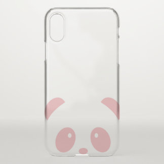 Cute and Cuddly Pink Panda iPhone X Deflector Case