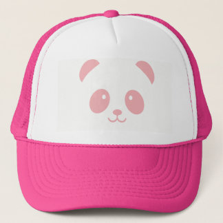 Cute and Cuddly Pink Panda Trucker Hat