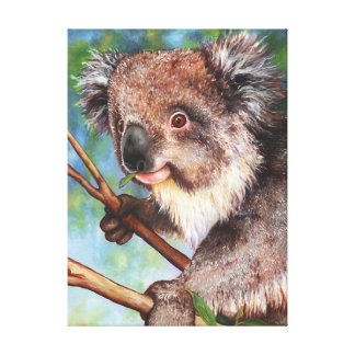 Cute and cuddly - young koala canvas print