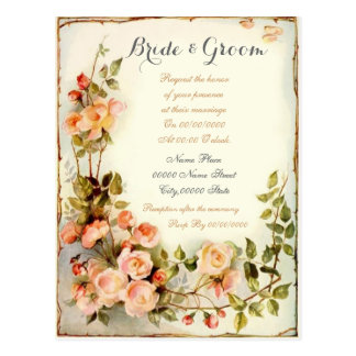 cute and elegant Budget Wedding Invitations. Postcard