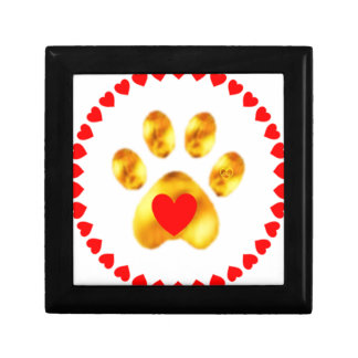 Cute and elegant gold paw gift box