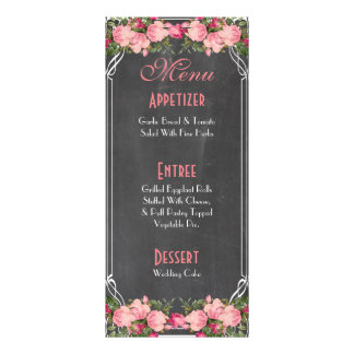 cute and elegant wedding menu card rack cards