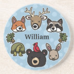 Cute and Friendly Forest Animals, Add Child's Name