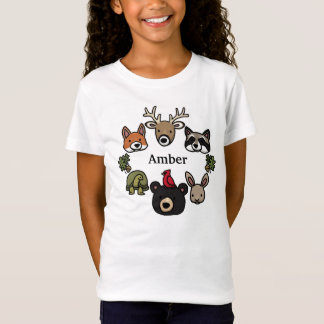 Cute and Friendly Forest Animals, Add Child's Name T-Shirt