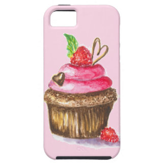 Cute and Fun Chocolate, Raspberry Cupcake iPhone 5 Covers