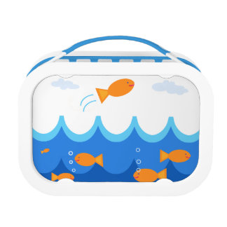 Cute and Fun Flying Fish Illustration Lunch Box