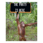 Cute and Fun Party Time Location Posters