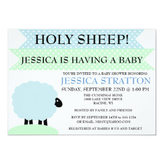 Cute and Fun Sheep Baby Shower invite - customise