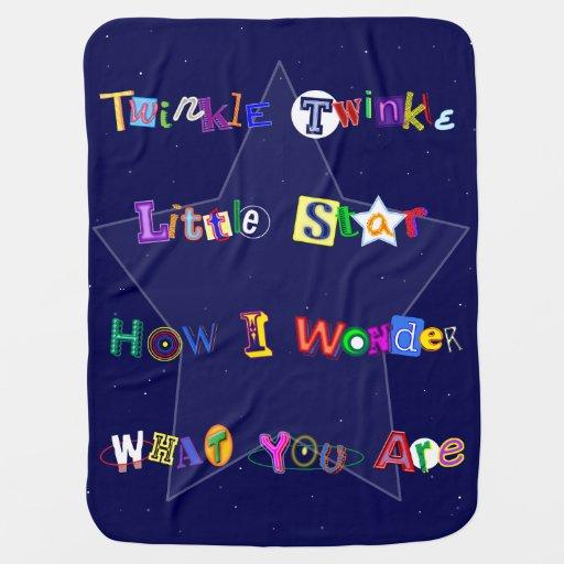 Cute and Fun Twinkle Twinkle Little Star Stroller Blankets