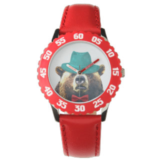 Cute and funny bear animal adorable boy kids child watch