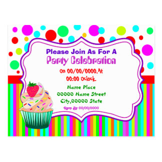 cute and funny budget party invitation postcard