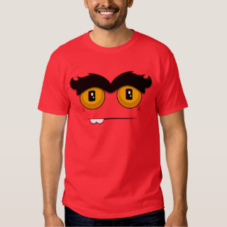 Cute and Funny Cartoon Unibrow Monster Face T Shirts
